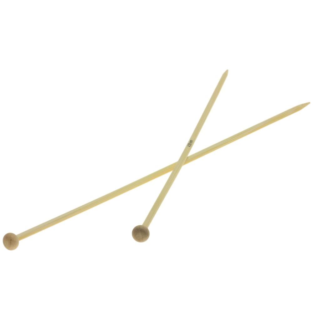 Lana Grossa Breinaalden met Knop Bamboe dikte 4,5