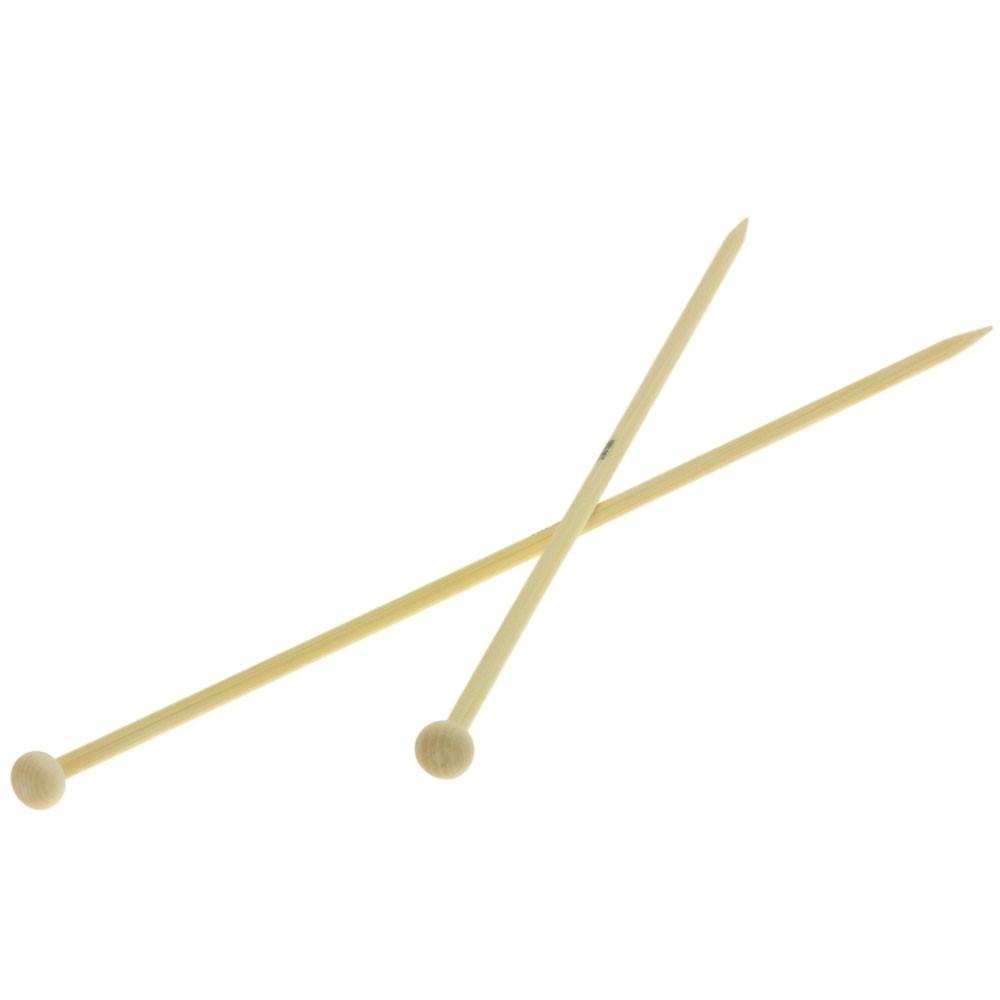 Lana Grossa Breinaalden met Knop Bamboe dikte 5,0