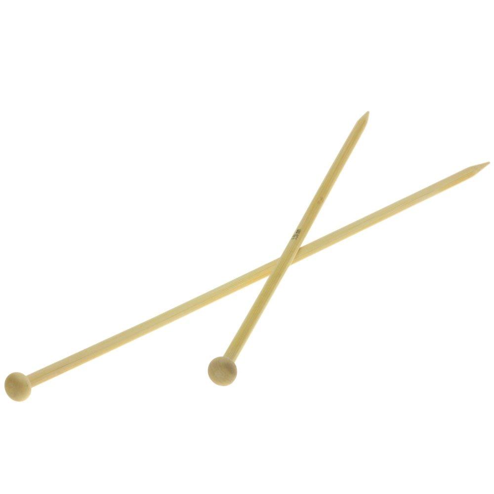 Lana Grossa Breinaalden met Knop Bamboe dikte 5,5