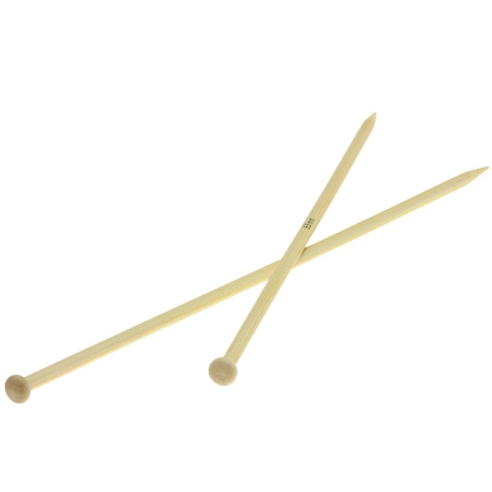 Lana Grossa Breinaalden met Knop Bamboe dikte 6,5