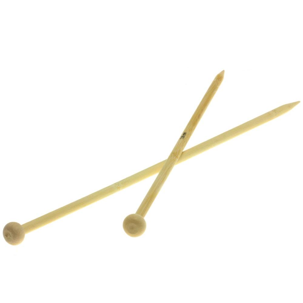 Lana Grossa Breinaalden met Knop Bamboe dikte 7,0