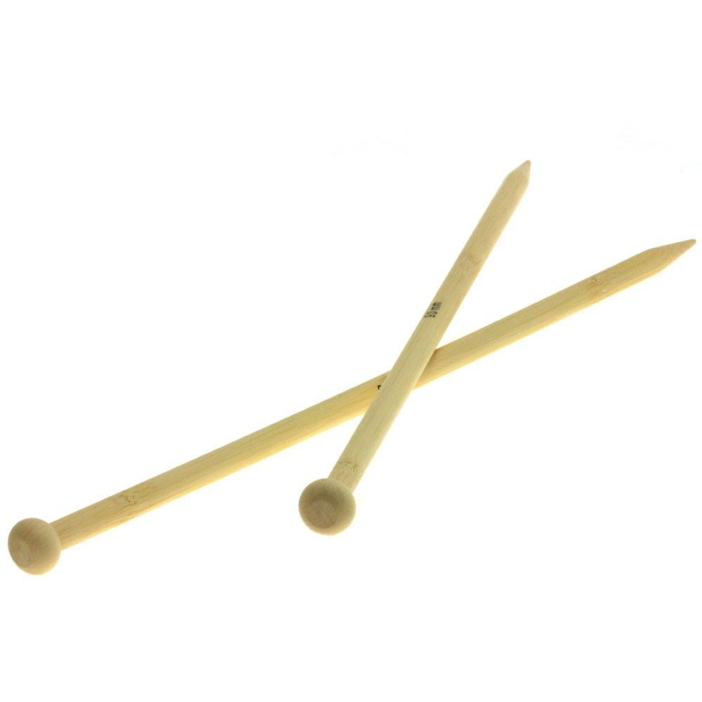Lana Grossa Breinaalden met Knop Bamboe dikte 9,0