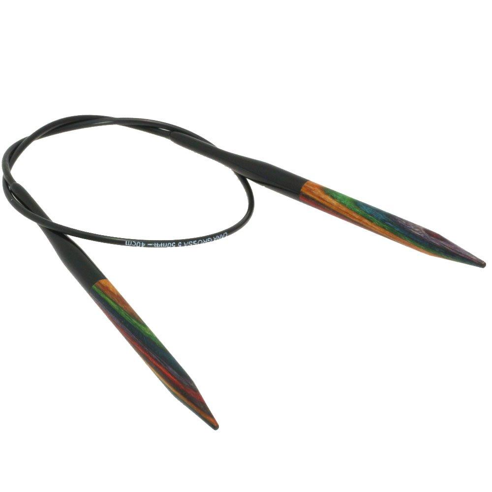 Lana Grossa Rondbreinaalden Designer Hout Color dikte 5,5/40cm